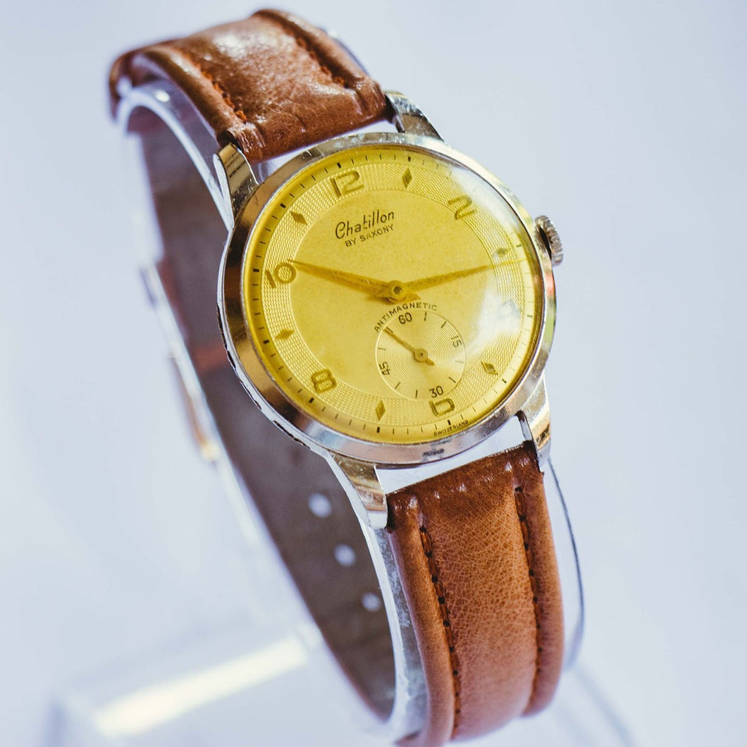Chatillon By Saxony Antimagnetic Mechanical Watch | Rare Vintage Watch