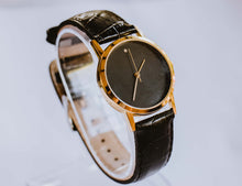 Load image into Gallery viewer, Black Dial Minimalist Vintage Mechanical Watch | Luxury Ladies Watch