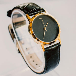 Black Dial Minimalist Vintage Mechanical Watch | Luxury Ladies Watch