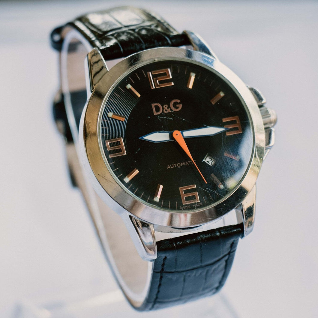 Dolce & Gabbana Men's Watch | Silver-tone D&G Automatic Watch