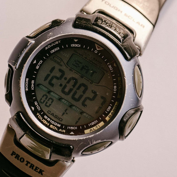 Montre de randonnée Casio Pro Trek 2471 PRT-50 Tough Solar Altimeter