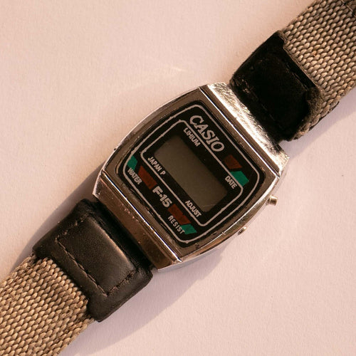 Casio Lithium F-15 Date Watch | 80s Vintage Quartz Casio Watch
