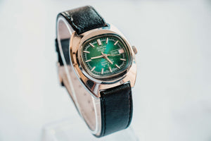 Rare Bolivia Electra 25 Mechanical Men's Watch | Green Dial Watch