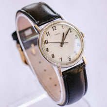 Load image into Gallery viewer, Classic Timex Silver-Tone Mechanical Watch | Minimalist Vintage Watch