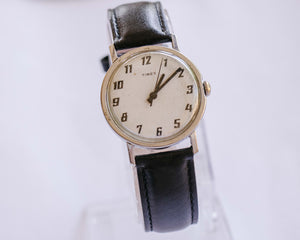 Classic Timex Silver-Tone Mechanical Watch | Minimalist Vintage Watch