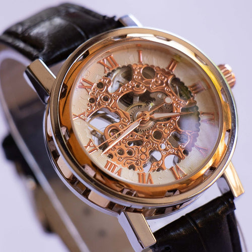 Rose-Gold SKELETON Mechanical Watch | Luxury Premium Watch