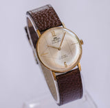 Nelson Extra Flat 17 Jewels Mechanical Watch | Vintage Gold Swiss Watch