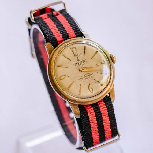 Rokomatic 17 Jewels Mechanical Watch | 80s Vintage German Watches