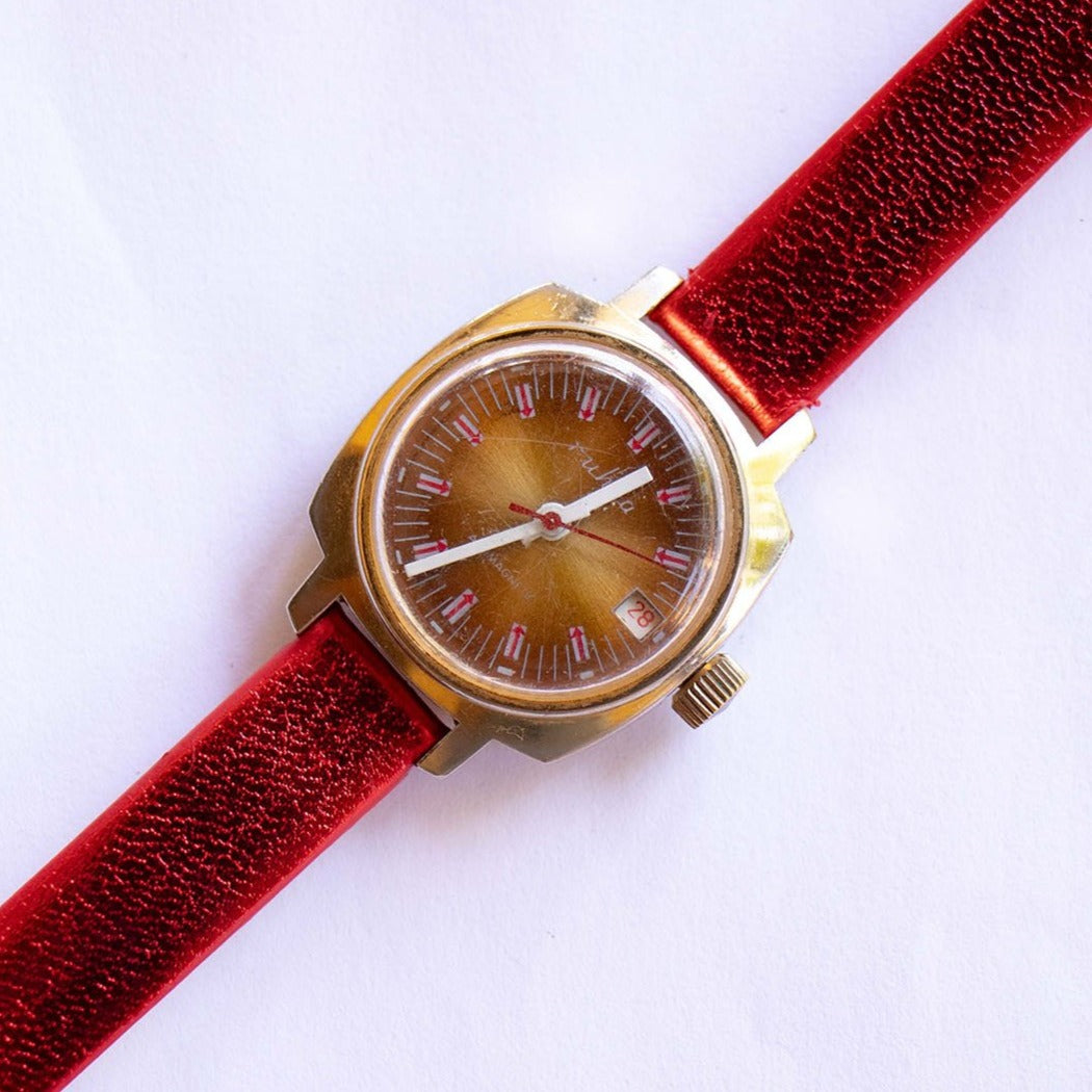 Ruhla Antimagnetic Mechanical Watch | Gold-tone Vintage Watch