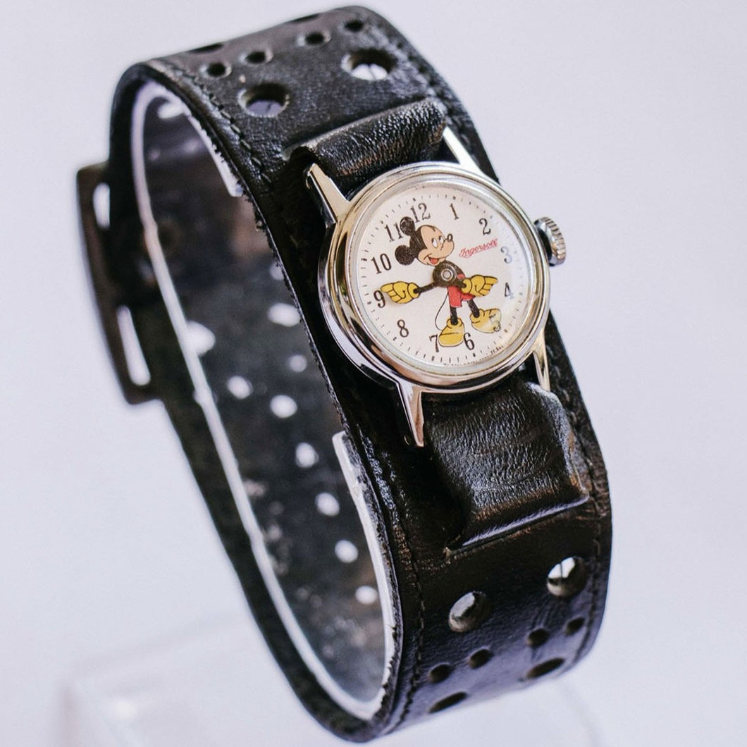 1971 Ingersoll Mickey Mouse Mechanical Watch | 70s Walt Disney Watch