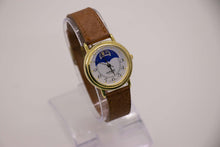 Load image into Gallery viewer, Watch it Moon Phase Watch | Beautiful Gold-tone Vintage Watch