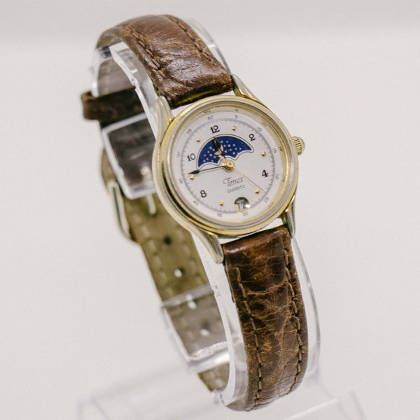 Timex Moon Phase Watch | Gold-tone Vintage Timex Watch