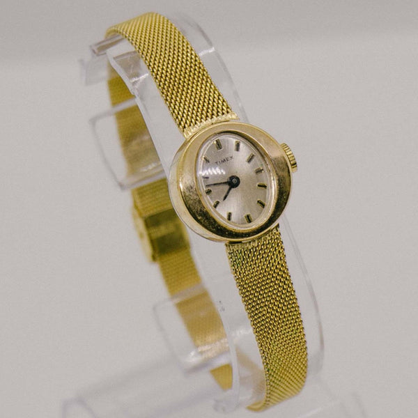 Art Deco Gold Timex Watch for Women | Vintage 80s Timex Watch for her