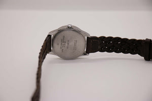 Timex Indiglo Classic Watch Brown Leather Watch Strap 90s Wristwatches