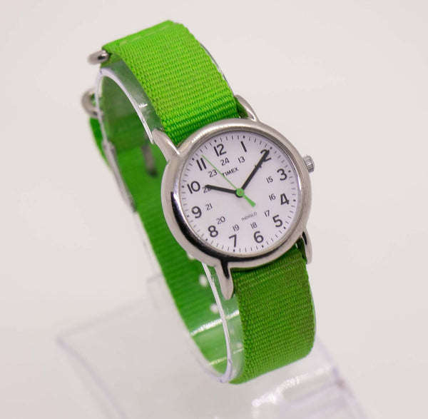 Green Timex Indiglo Nato Strap Watch | Timex Casual Daily Watch