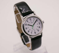 Black Leather Watch Strap Timex Indiglo Watch | Modern Timex Watches