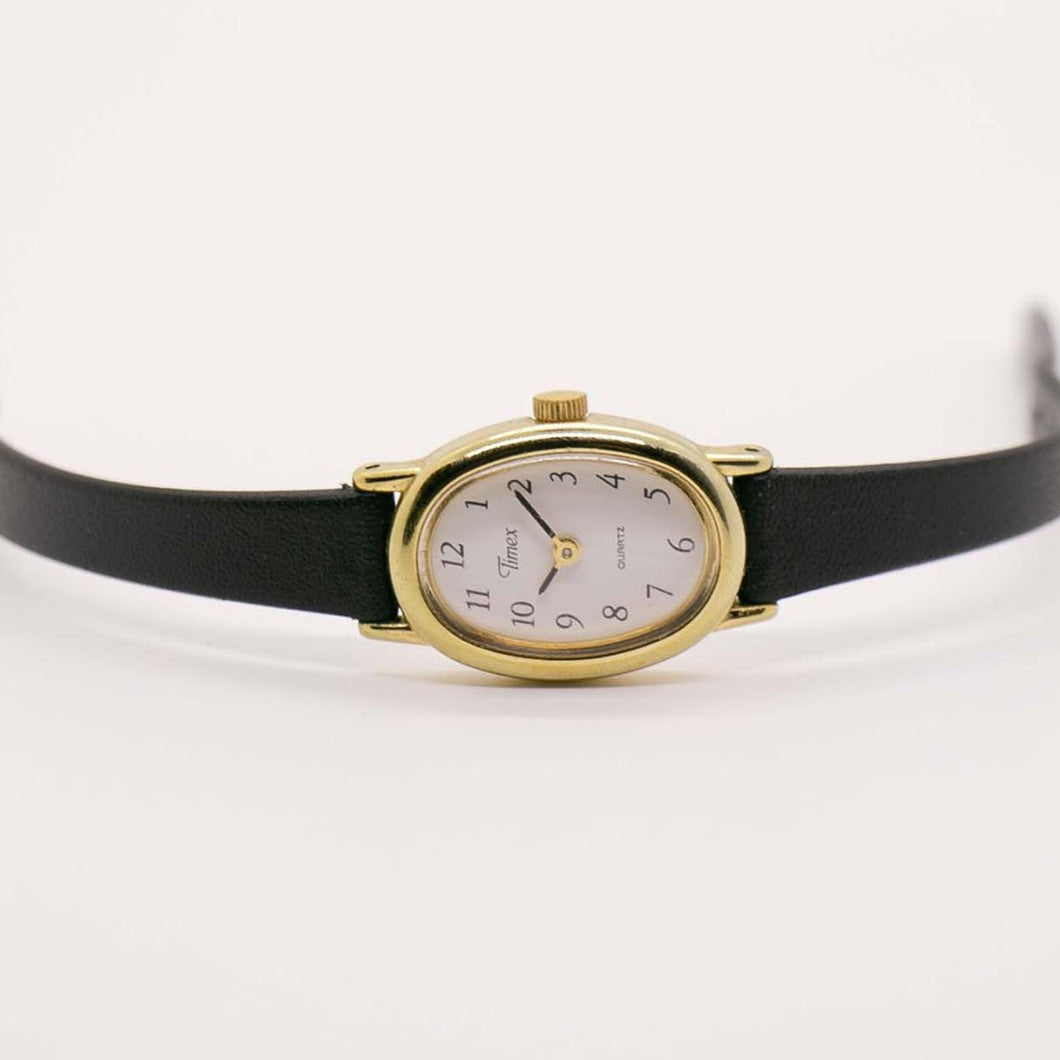 90s Ladies Gold-Tone Timex Watch | Simple Timex Watch Vintage for Her