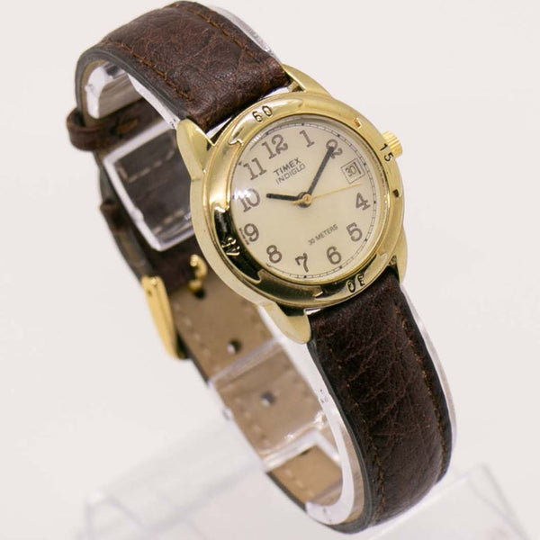 Gold Timex Indiglo Date Watch WR 30 Meters | Vintage Timex Watch Collection