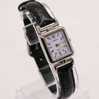 Square Carriage By Time Watch | Elegant Silver-Tone Quartz Watch