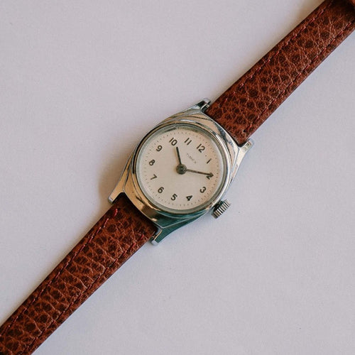 Classic Small Mechanical Timex Watch | Silver-tone Minimalist Timex