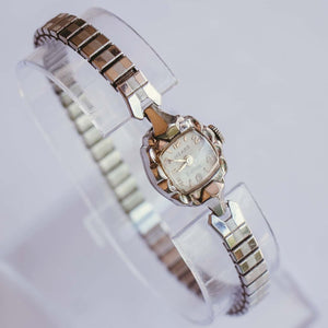 MEARS 21 Jewels Mechanical Vintage Watch | Silver-Tone Wedding Watch