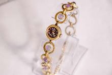 Load image into Gallery viewer, Gold-Tone Anker Vintage Ladies Watch with Purple Stones | German Watches