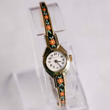 Load image into Gallery viewer, Lady Nelson Swiss-made Ladies Watch | Vintage Floral Gold-tone Watch