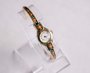Lady Nelson Swiss-made Ladies Watch | Vintage Floral Gold-tone Watch