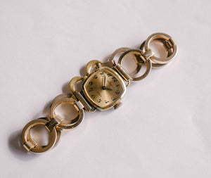 HERZFELD 17 Jewels Gold-Tone Mechanical Watch | Ladies Vintage Watch - Vintage Radar