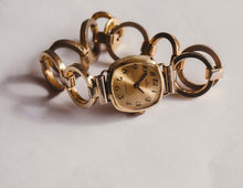 Load image into Gallery viewer, HERZFELD 17 Jewels Gold-Tone Mechanical Watch | Ladies Vintage Watch - Vintage Radar