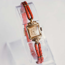 Load image into Gallery viewer, 17 Jewels Gold-Plated Anker Watch | Vintage Mechanical Ladies Watch