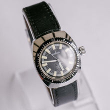 Load image into Gallery viewer, Vintage Eviana Mechanical Diver Watch | Black Dial Men's Wristwatch