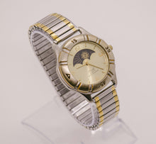 Load image into Gallery viewer, Vintage Acuet Moon Phase Watch | Elegant Moonphase Quartz Watch