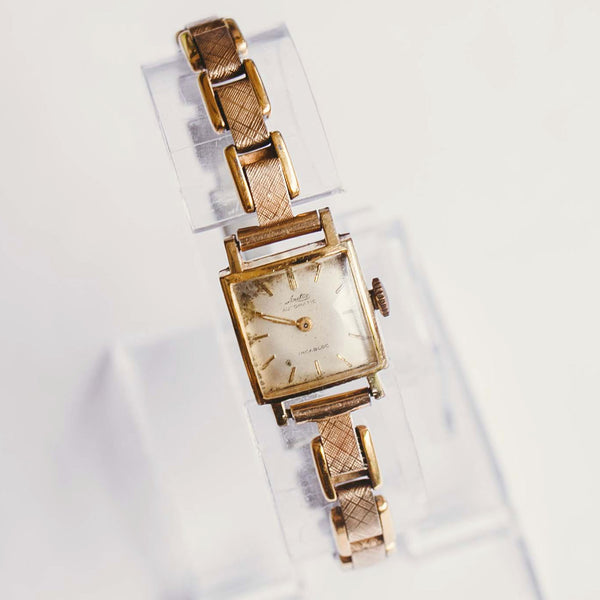 Arctos Automatic Incabloc Ladies Watch | Gold-Plated Vintage Watch