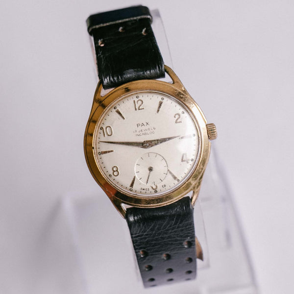 Pax 17 Jewels Incabloc Men's Mechanical Watch | Vintage French Watch