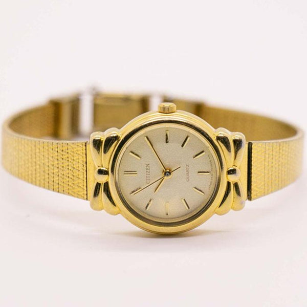 Rare Gold-Tone Vintage Citizen 5931-F90885 Y Watch for Women - Small Wrist