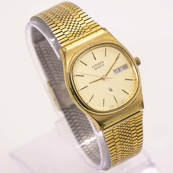 Gold-Tone Vintage Citizen 7103-714501 Y Watch | Retro Citizen Watches