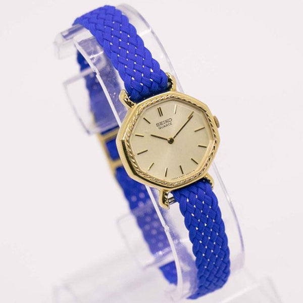 1981 Art Deco Gold Tone Seiko 2320-6180 R Watch for Women | 80s Seiko