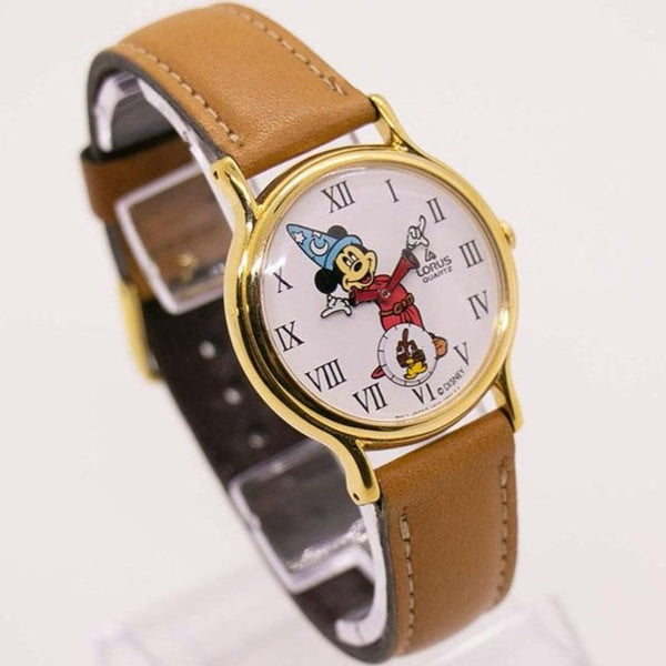 Disney Sorcerer Mickey Mouse Lorus v803 0110 R0 Watch Vintage