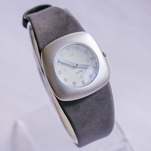 Silver-tone Square-dial Alessi Watch | Italiano Designer Watch