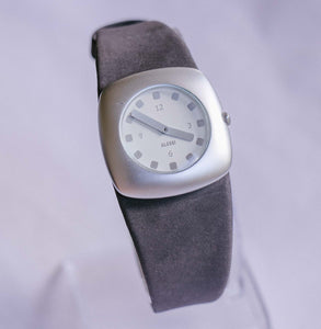 Silver-tone Square-dial Alessi Watch | Italian Designer Watch