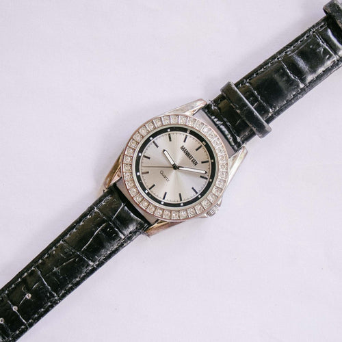 Manhattan Quartz Watch de Croton | Silver-tone Gemstone Watch Unisex
