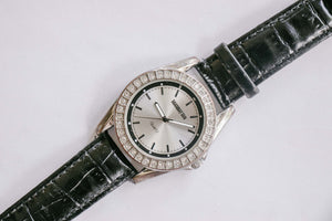 Manhattan Quartz Watch by Croton | Silver-tone Gemstone Watch Unisex