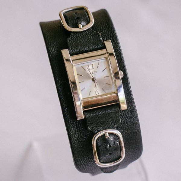 Minimalist Square-dial Guess Watch | Genuine Leather Guess Bracelet