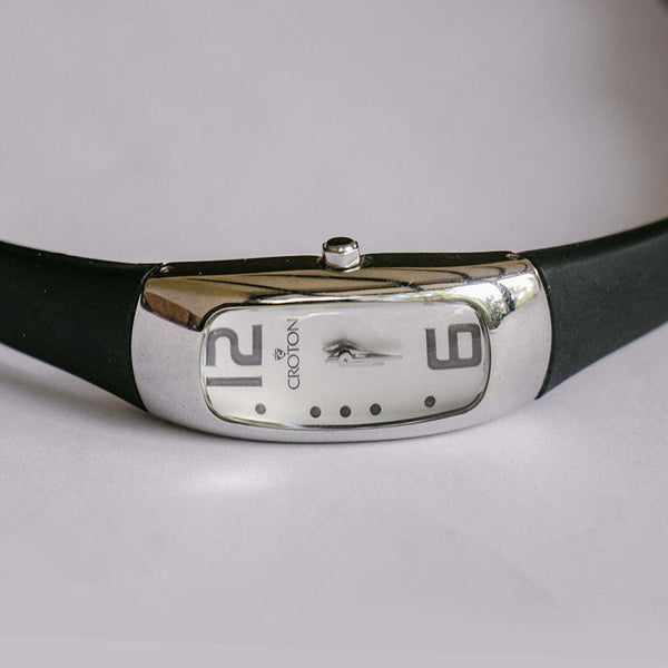 Croton Rectangular Ladies Watch | Stainless Steel Quartz Watch