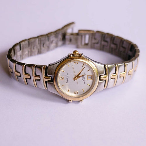 Elegant Armitron Now Watch for Women | Two-tone Luxury Date Watch