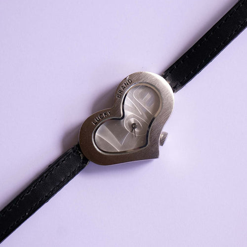 Con suerte de corazón-Shaped Watch | Love and Peace Hippie Women's Watch