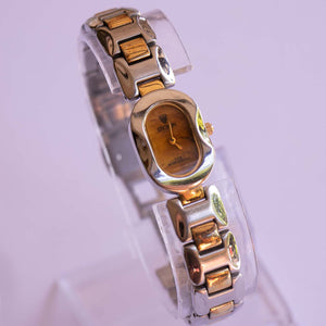 Croton Silver-tone Ladies Watch with Marble Effect Dial | Vintage Watches