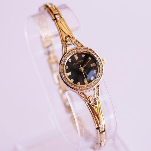 Black Dial Armitron Ladies Watch with Swarovski Crystals