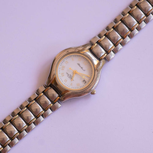 Vintage Eddie Bauer Silver-tone Ladies Watch | Women's Date Watch